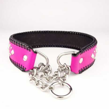 Dog_collar_L_leather_-_Pink_and_black_-_2_gmqljd